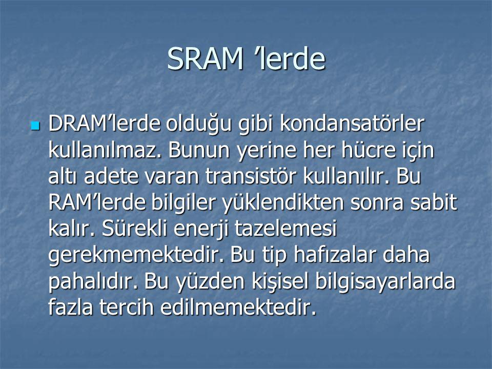 SRAM 'lerde
