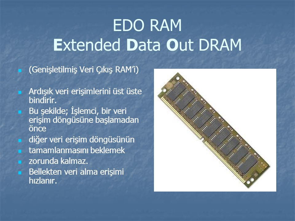 EDO RAM Extended Data Out DRAM