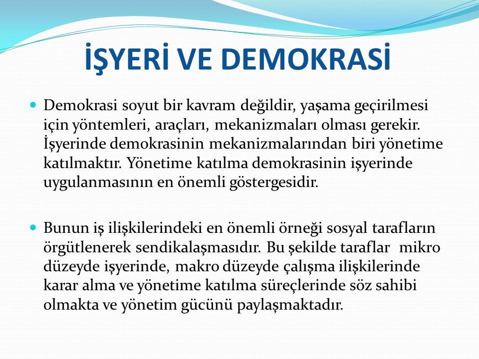 İŞYERİ VE DEMOKRASİ
