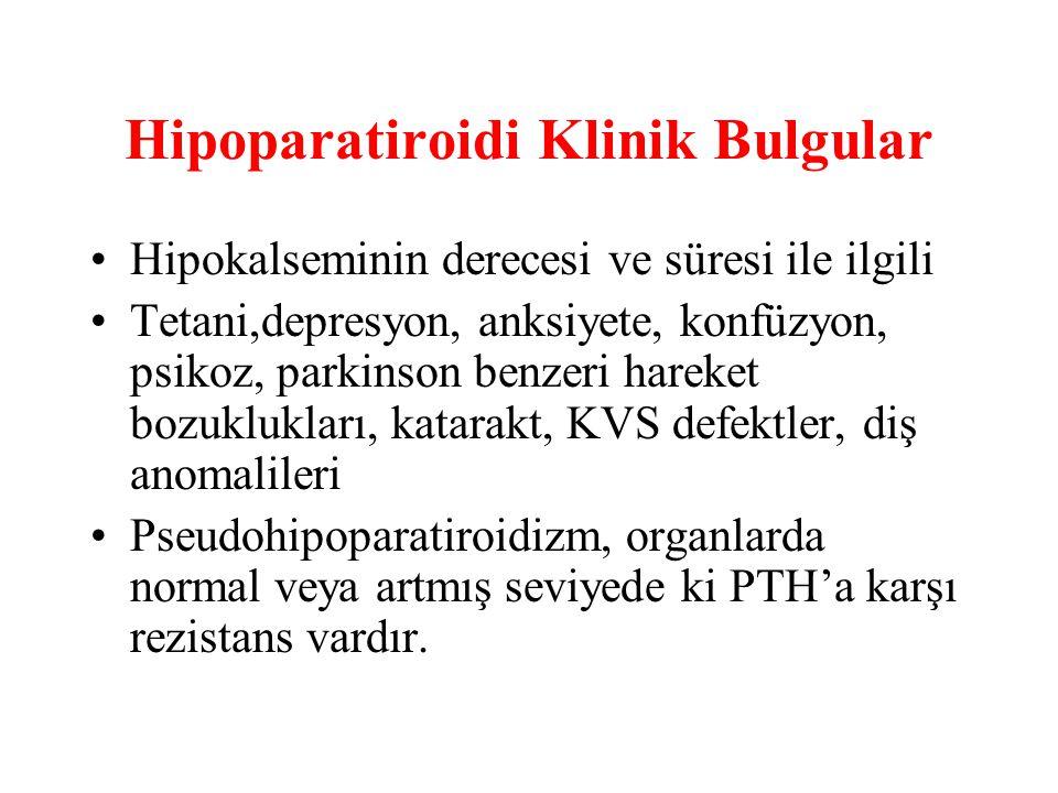 Hipoparatiroidi Klinik Bulgular
