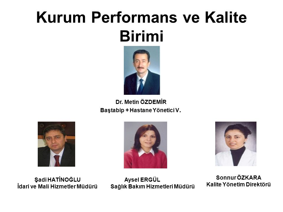 Kurum Performans ve Kalite Birimi