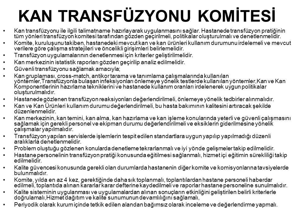 KAN TRANSFÜZYONU KOMİTESİ