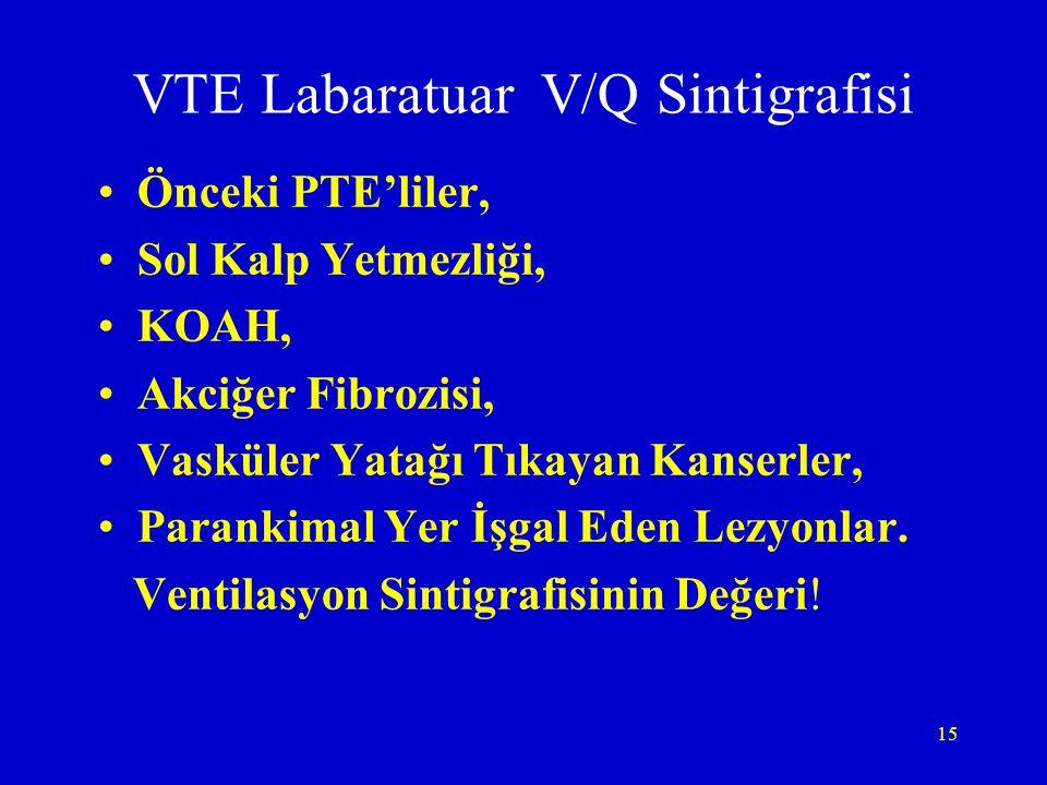 VTE Labaratuar V/Q Sintigrafisi