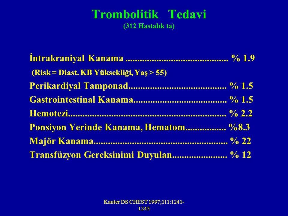 Trombolitik Tedavi (312 Hastalık ta)