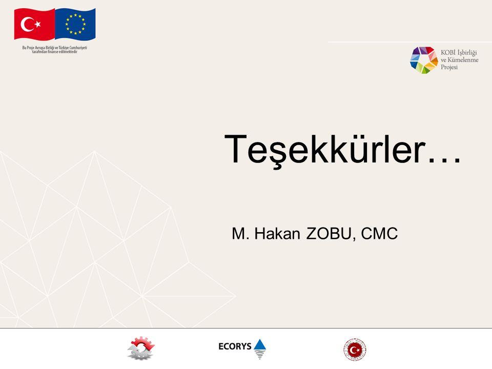 Teşekkürler… M. Hakan ZOBU, CMC