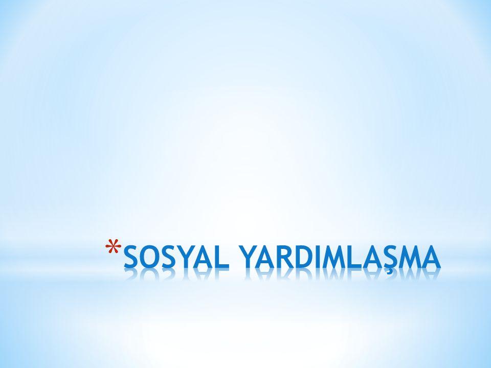 SOSYAL YARDIMLAŞMA