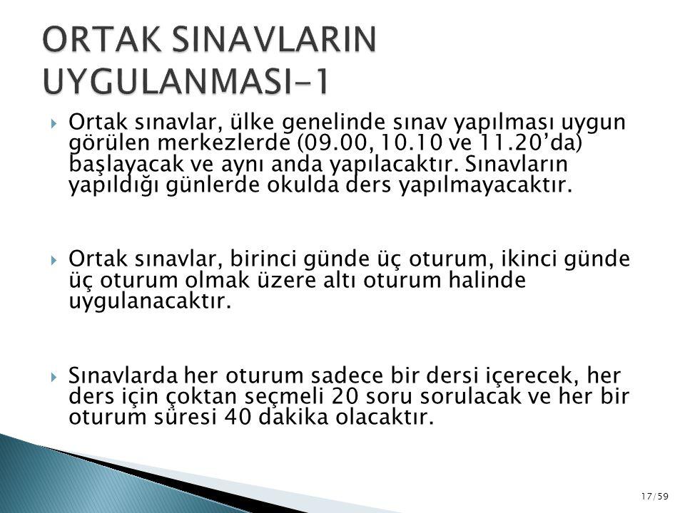 ORTAK SINAVLARIN UYGULANMASI-1