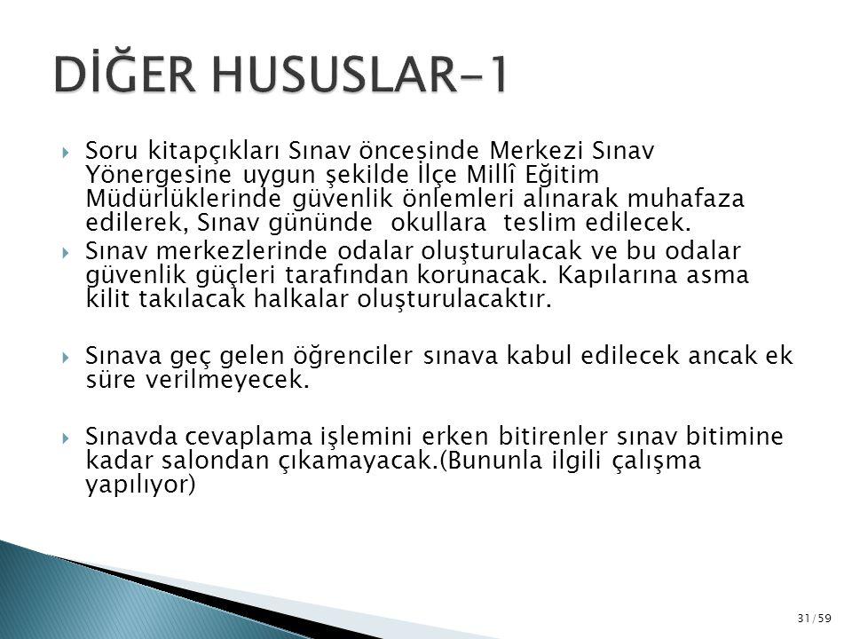 DİĞER HUSUSLAR-1