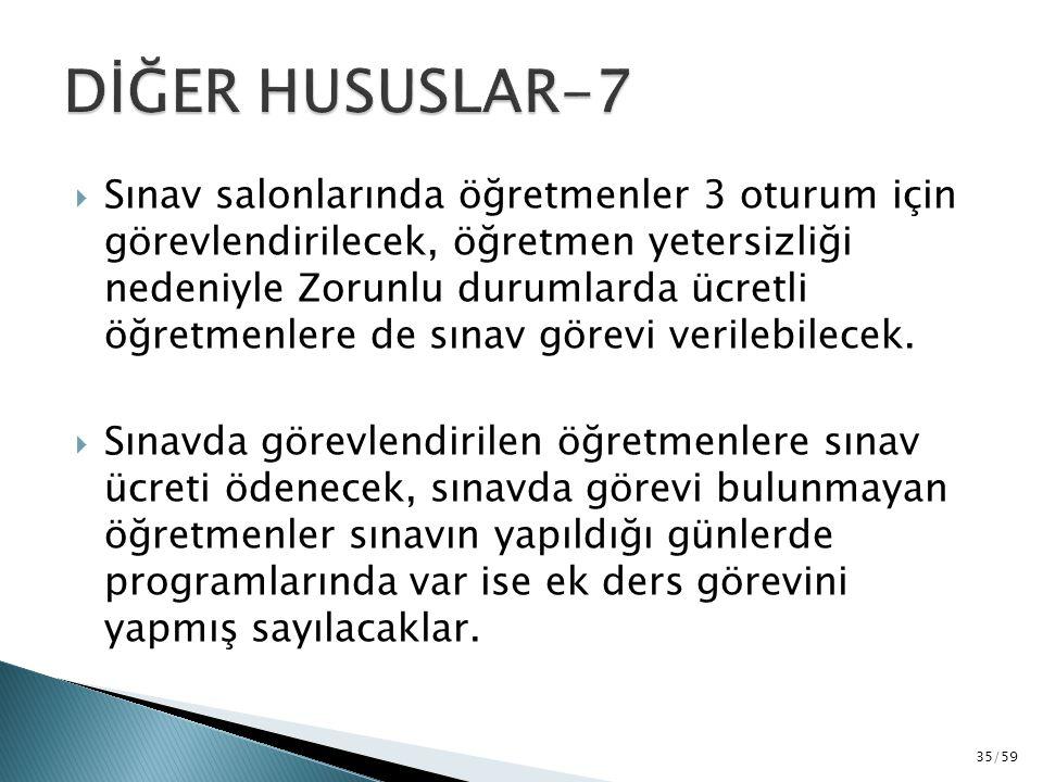 DİĞER HUSUSLAR-7