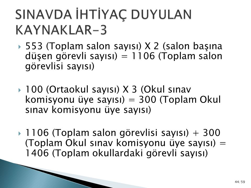 SINAVDA İHTİYAÇ DUYULAN KAYNAKLAR-3