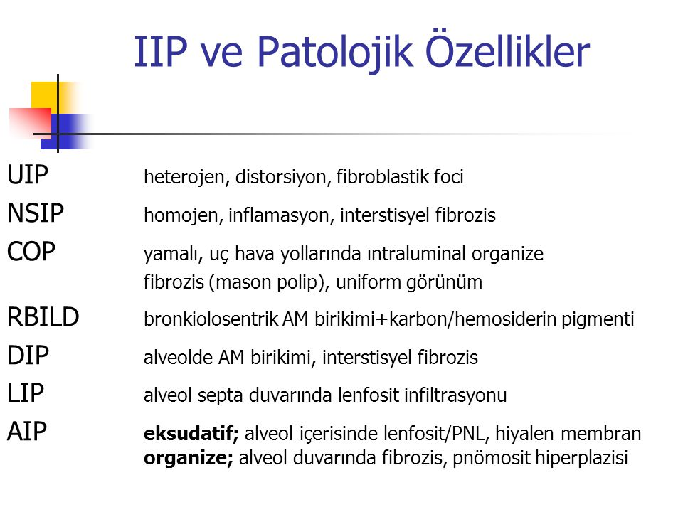IIP ve Patolojik Özellikler