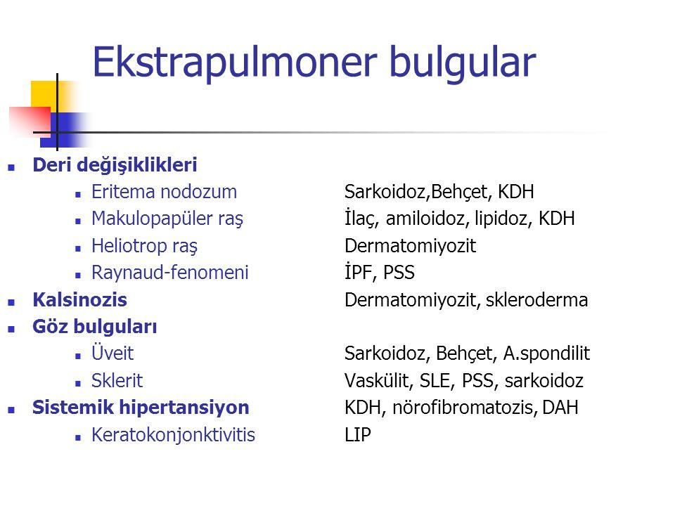 Ekstrapulmoner bulgular
