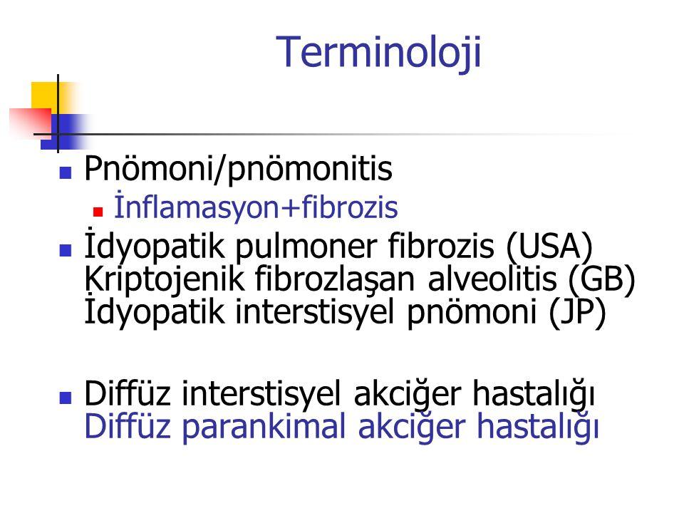 Terminoloji Pnömoni/pnömonitis