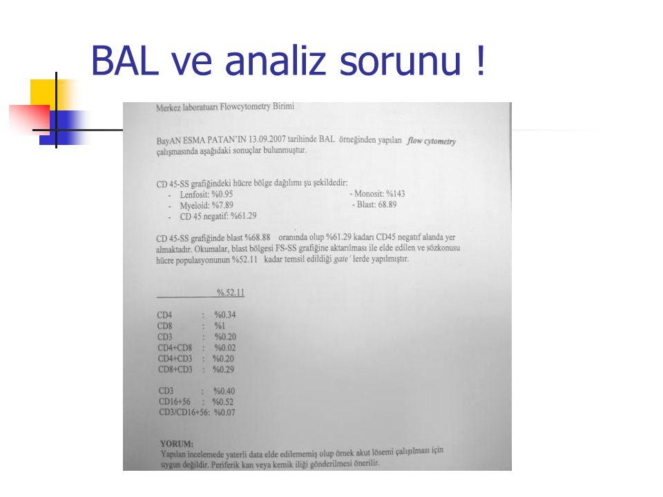 BAL ve analiz sorunu !