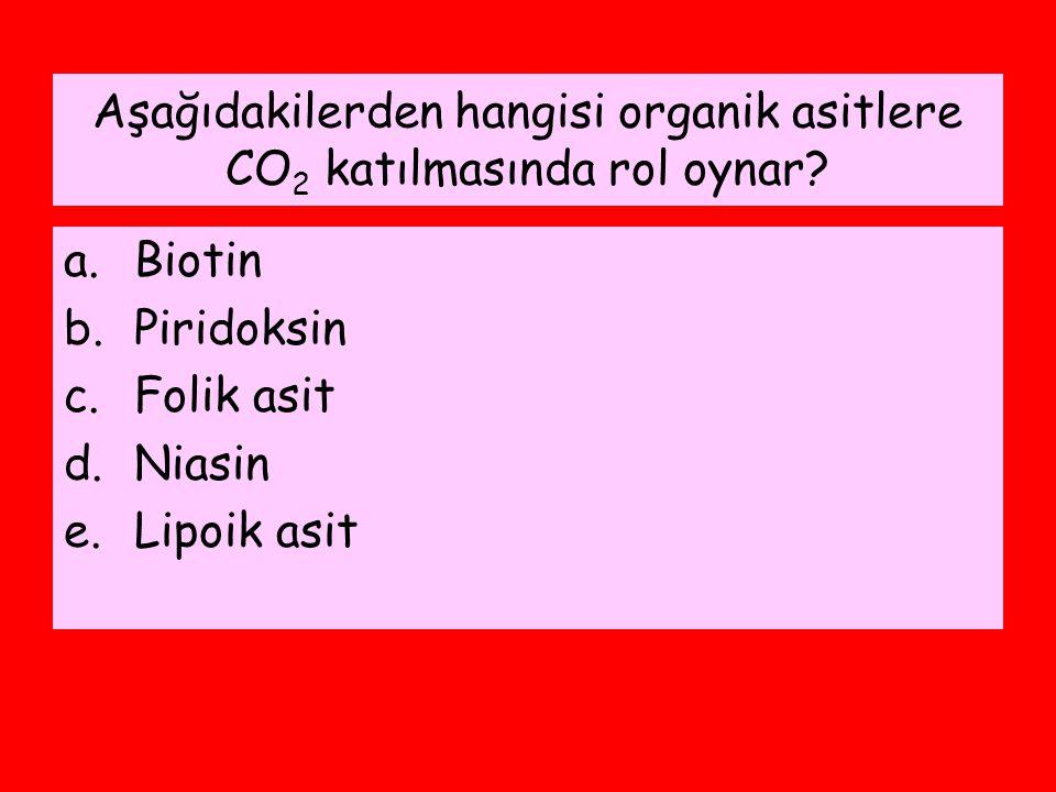 Aşağıdakilerden hangisi organik asitlere CO2 katılmasında rol oynar