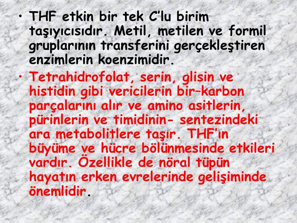 THF etkin bir tek C'lu birim taşıyıcısıdır