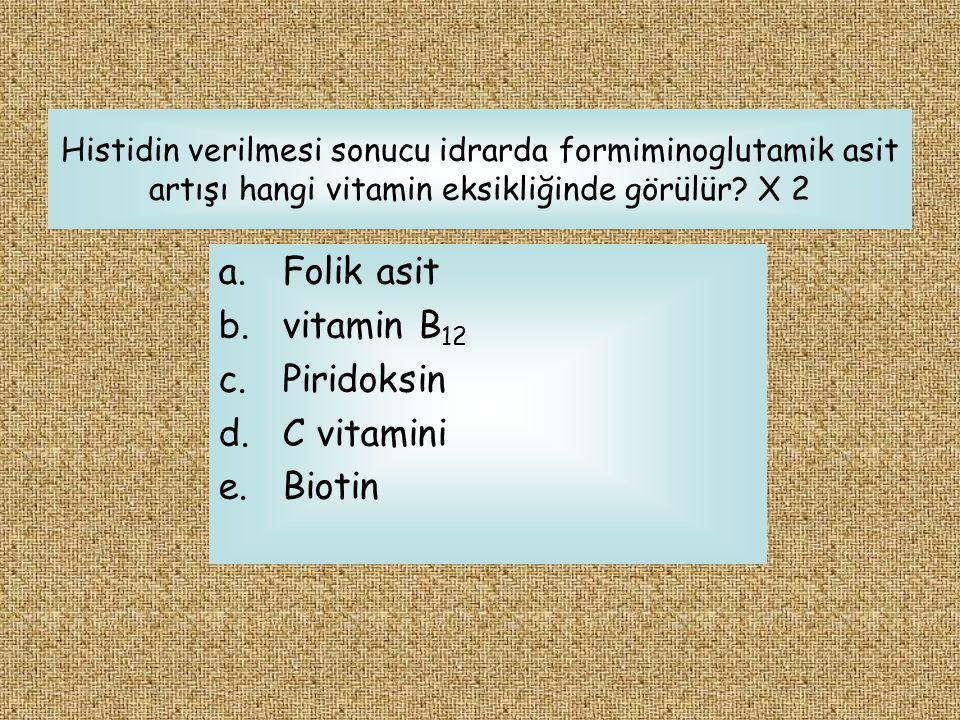 Folik asit vitamin B12 Piridoksin C vitamini Biotin
