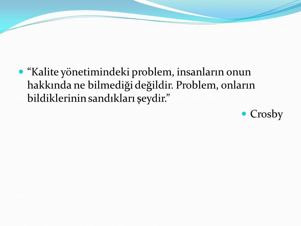 Kalite yönetimindeki problem, insanların onun hakkında ne bilmediği değildir. Problem, onların bildiklerinin sandıkları şeydir.