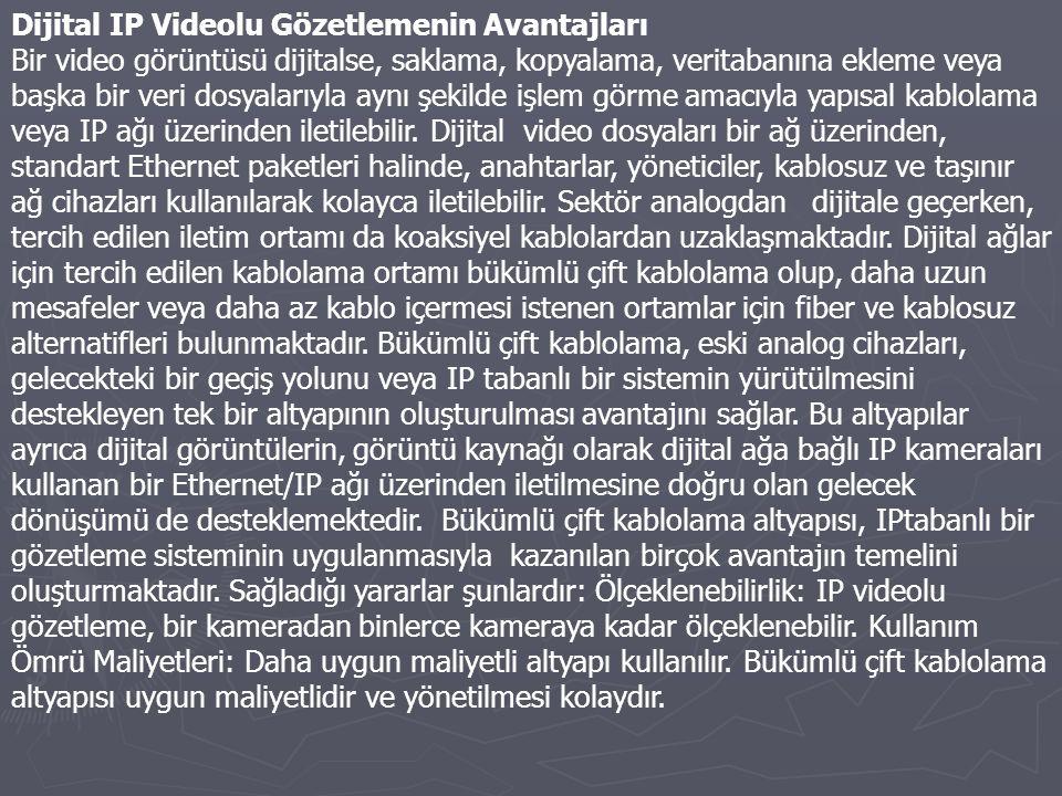 Dijital IP Videolu Gözetlemenin Avantajları