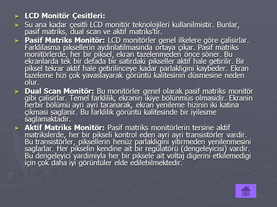LCD Monitör Çesitleri:
