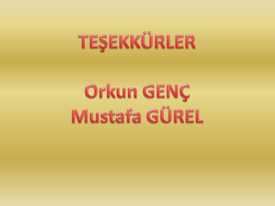 TEŞEKKÜRLER Orkun GENÇ Mustafa GÜREL