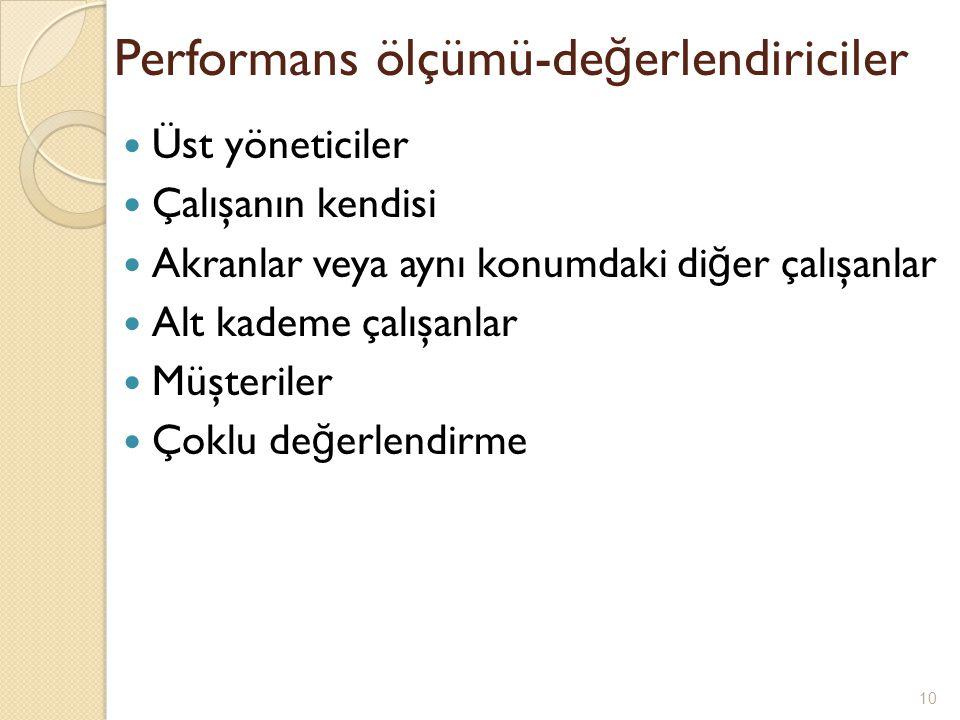 Performans ölçümü-değerlendiriciler