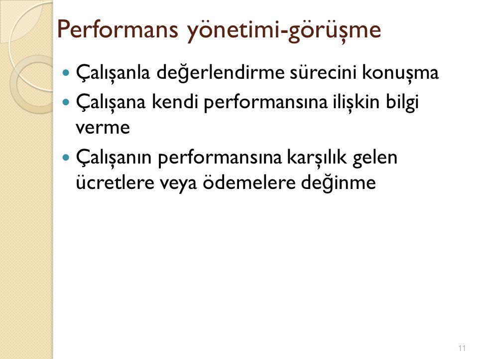 Performans yönetimi-görüşme