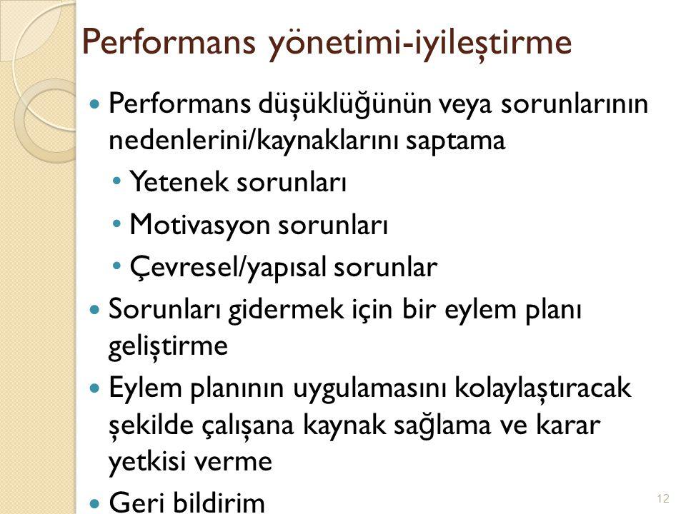 Performans yönetimi-iyileştirme
