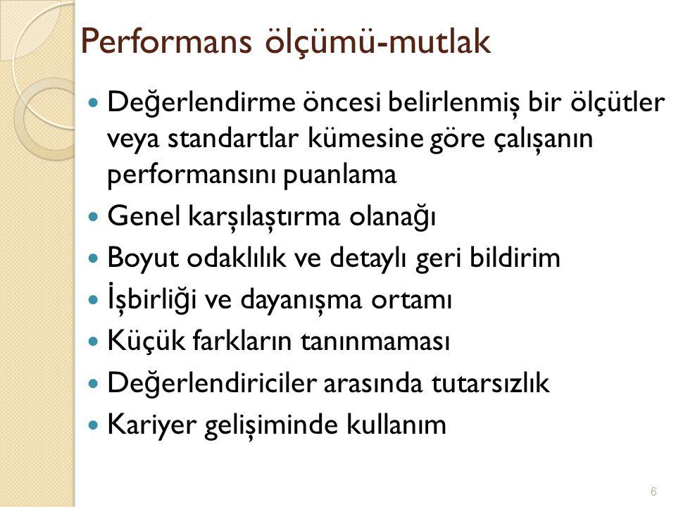 Performans ölçümü-mutlak