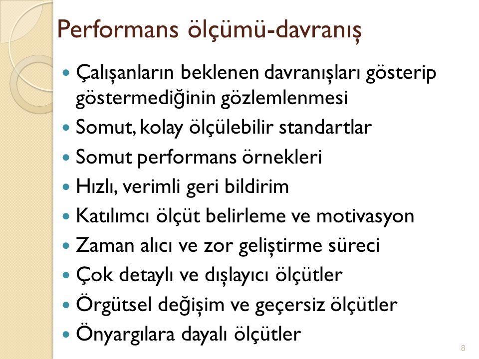 Performans ölçümü-davranış