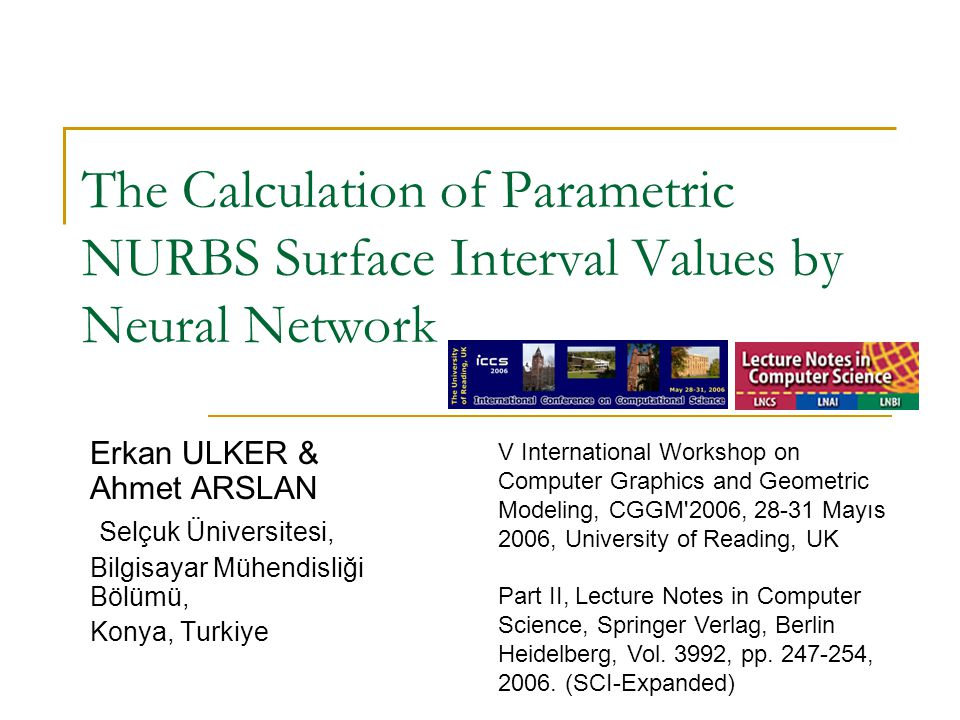 The Calculation of Parametric NURBS Surface Interval Values by Neural Network