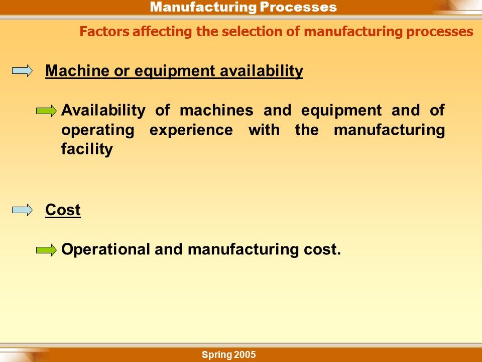 Machine or equipment availability