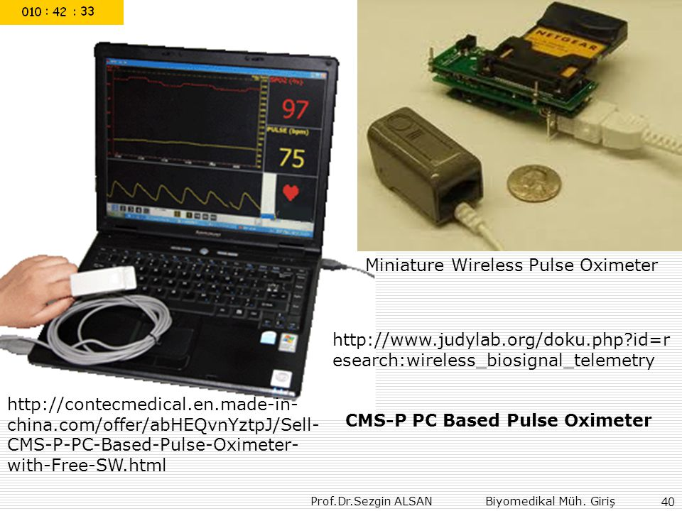 Miniature Wireless Pulse Oximeter