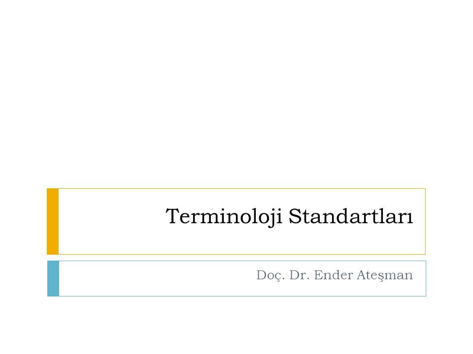 Terminoloji Standartları