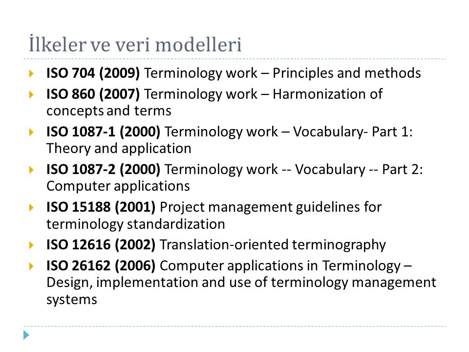 İlkeler ve veri modelleri