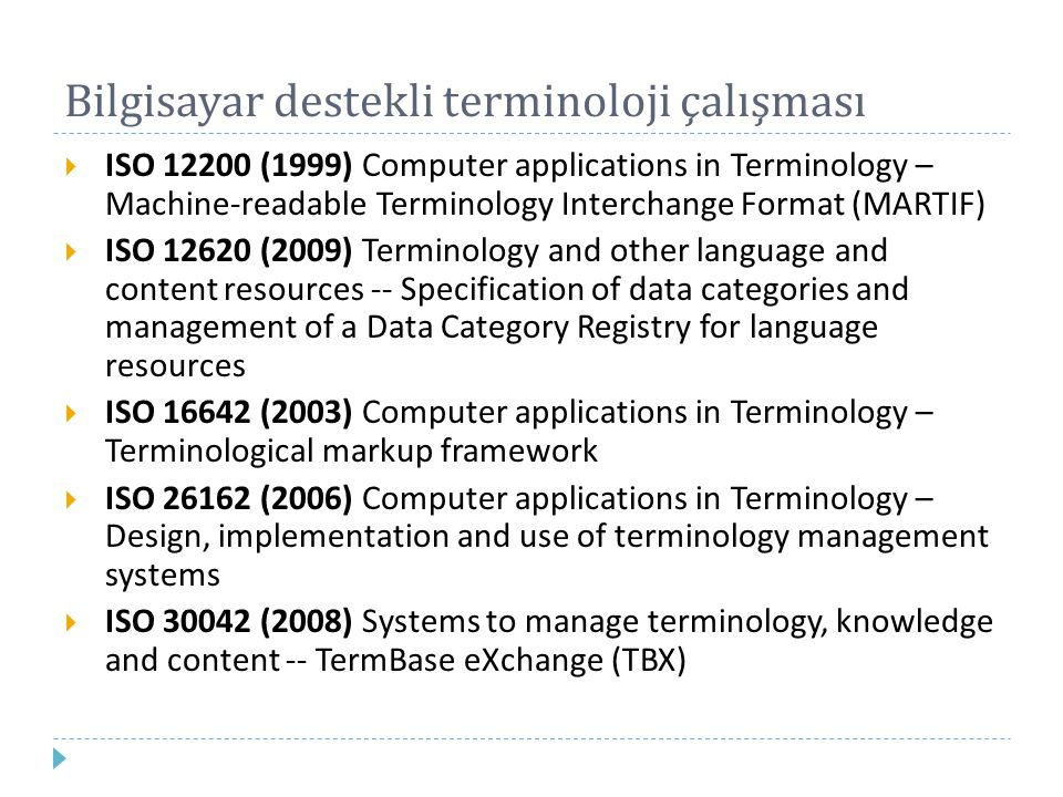 Bilgisayar destekli terminoloji çalışması