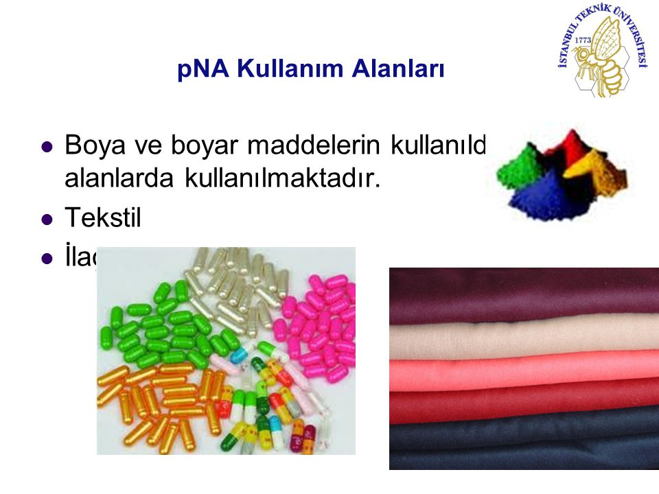 Boya ve boyar maddelerin kullanıldığı tüm alanlarda kullanılmaktadır.