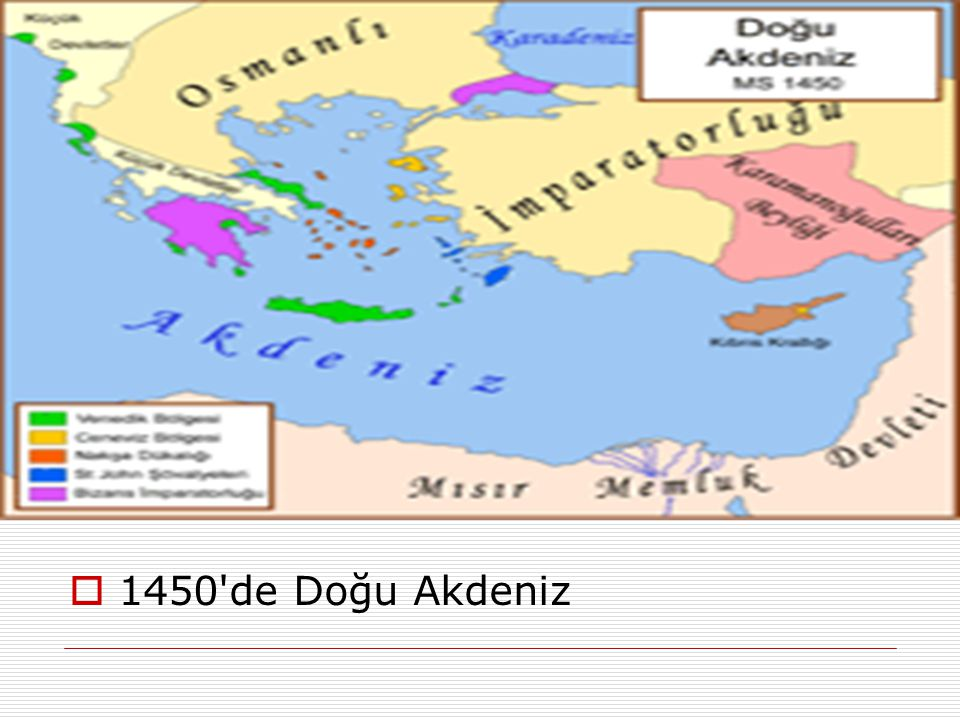 1450 de Doğu Akdeniz