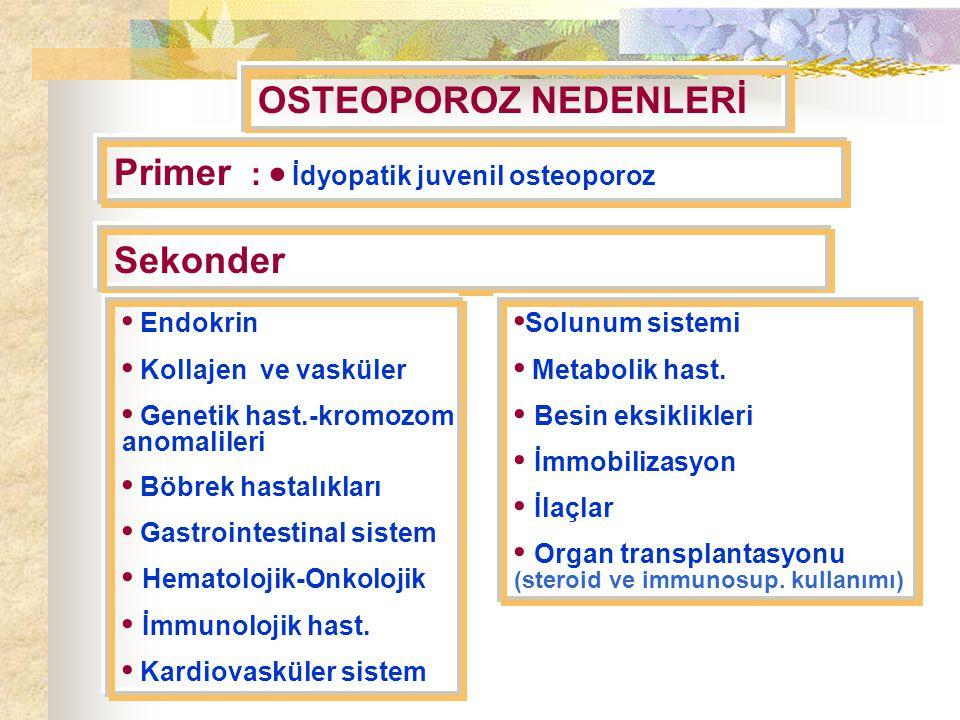 Primer :  İdyopatik juvenil osteoporoz
