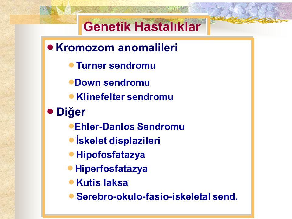  Kromozom anomalileri