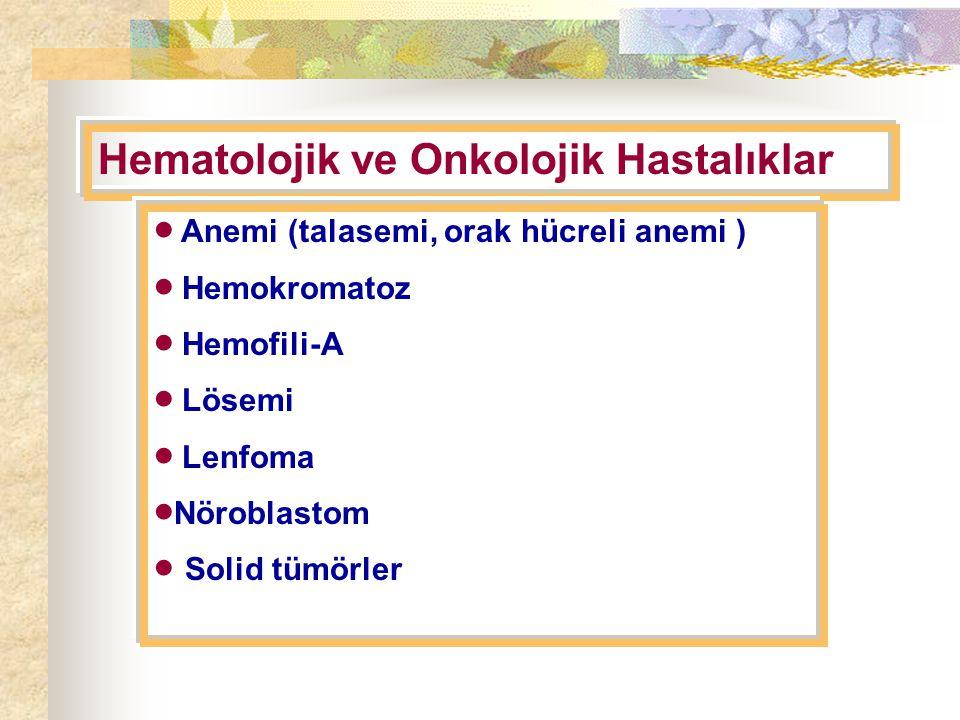 Hematolojik ve Onkolojik Hastalıklar