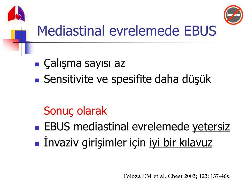 Mediastinal evrelemede EBUS