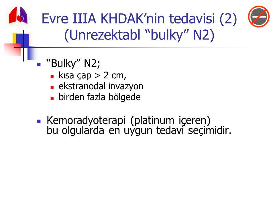 Evre IIIA KHDAK'nin tedavisi (2) (Unrezektabl bulky N2)