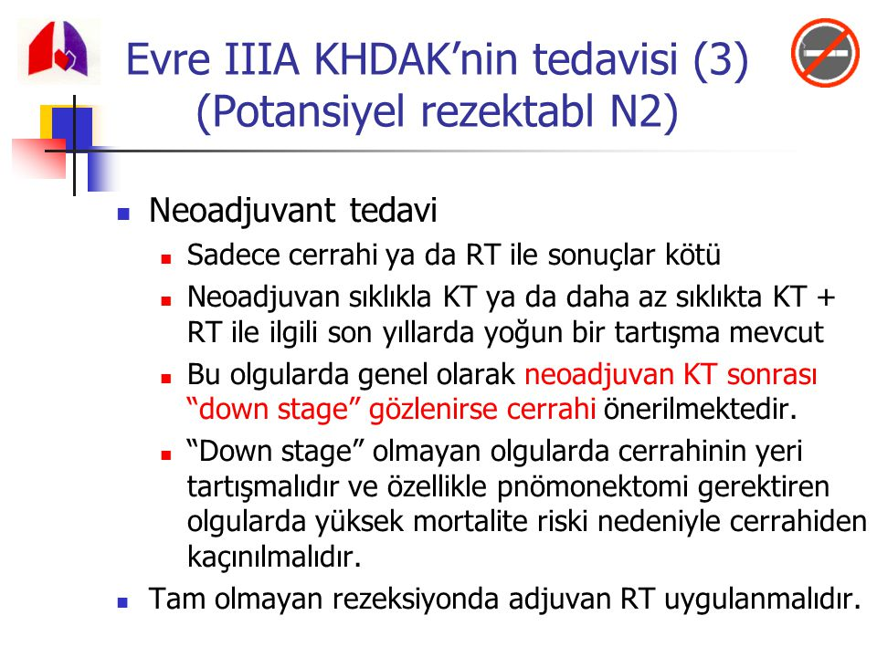 Evre IIIA KHDAK'nin tedavisi (3) (Potansiyel rezektabl N2)