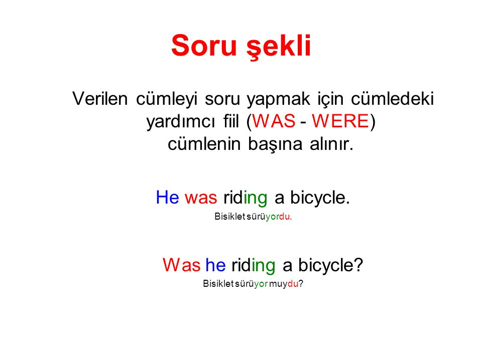 Bisiklet sürüyor muydu