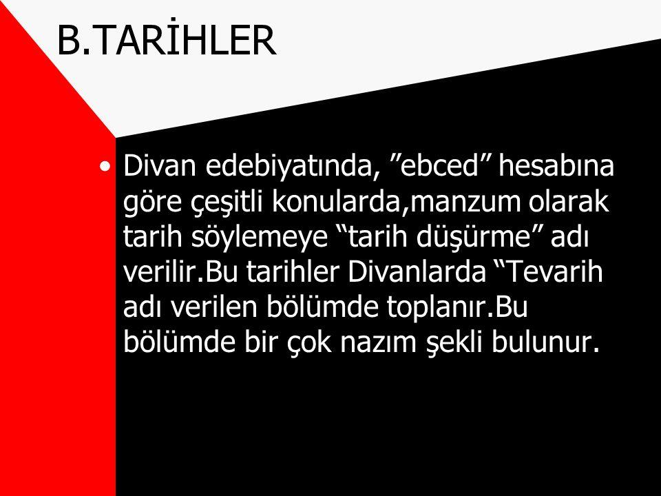 B.TARİHLER