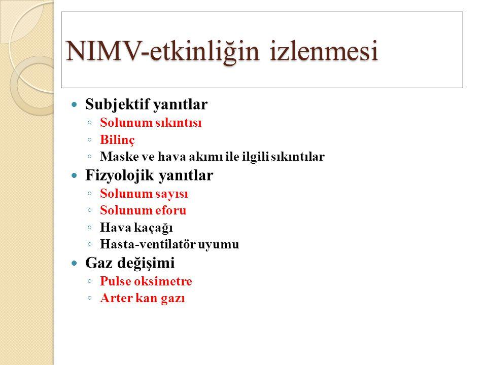 NIMV-etkinliğin izlenmesi