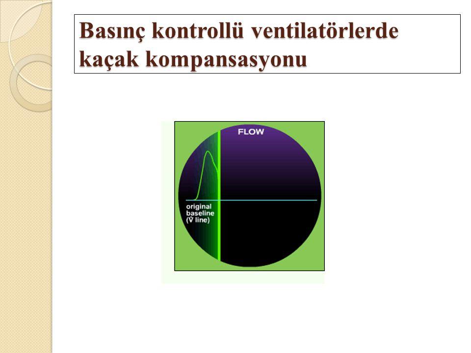 Basınç kontrollü ventilatörlerde kaçak kompansasyonu