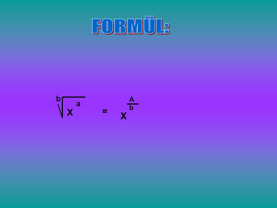FORMÜL: b A b a X = X