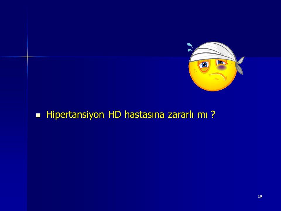 Hipertansiyon HD hastasına zararlı mı